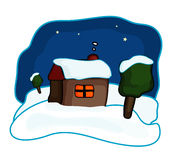 House Night. Illustration for country house at night Stock Illustration