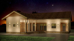 House at night Royalty Free Stock Photography
