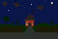 A house at night Royalty Free Stock Photos