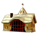 That is the house of the Nikolaus. 3d rendering of the Nikolaus house back as illustration Stock Images