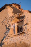 House of Norcia partially collapsed Royalty Free Stock Photography