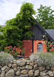 House in the nordic style, Bornholm, Denmark Stock Image