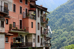 House in Northern Italy. Picturesque view of the house in Northern Italy. Typical for this region Stock Photos