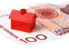 House on Norwegian banknote Royalty Free Stock Image
