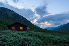 House in the Norwegian mountains Royalty Free Stock Image