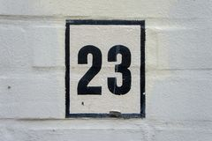 Free House Number 23 Stock Photos - 141233593