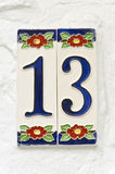 House number Royalty Free Stock Photos