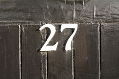 Free House Number 27 Sign Stock Photos - 116244803