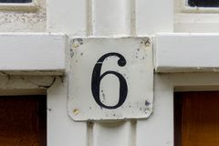 Free House Number 6 Stock Photo - 130061920