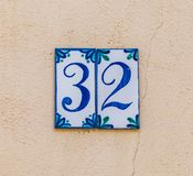 House number 32 Royalty Free Stock Image