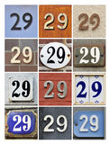 House Number 29 Stock Photography