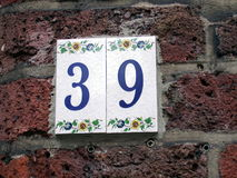 House number 39 Stock Photo