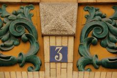 House Number 3 Royalty Free Stock Photo