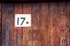 House number on the door Royalty Free Stock Image
