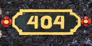 House number 404. Four hundred four royalty free stock image