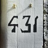 House number 431. House number four hundred and thirty one 431 Royalty Free Stock Images