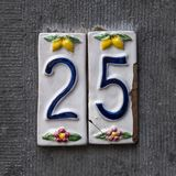House number 25 stock photos