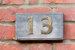House Number 13 Royalty Free Stock Photo