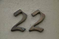 House Number 22 Royalty Free Stock Image