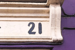 House number 21 Stock Photos