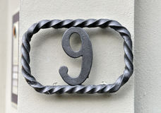 House number nine Royalty Free Stock Photos