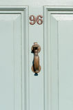 House number ninety six on a wooden door Royalty Free Stock Photos