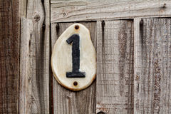 House number one Stock Images