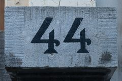 House Number 44 royalty free stock image