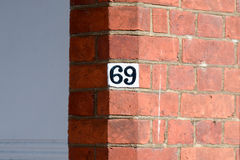 House number 69 Royalty Free Stock Photography