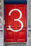 House Number 3 royalty free stock images