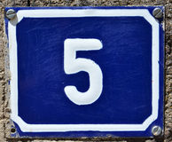 House number 5 Royalty Free Stock Photos