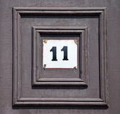 House number plate Stock Photography