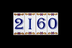 House number plate Stock Image