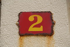 House number Royalty Free Stock Images