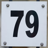 House Number Seventy Nine - 79 Royalty Free Stock Photos