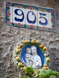 House number sign stock photos