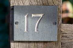 House Number 17 sign Stock Photography