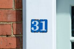 House Number 31 sign Stock Images