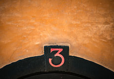 House number sign in Stockholm, Sweden Stock Image