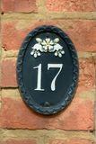 House Number 17 sign Stock Image