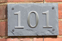 House number 101 Royalty Free Stock Photography