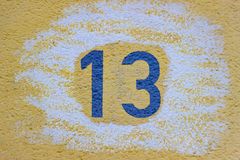 House Number Thirteen Royalty Free Stock Images