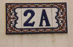 House number 2 A Royalty Free Stock Photo