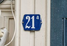House number twenty one a 21a Royalty Free Stock Photos