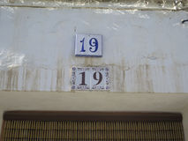 House Number 19 Royalty Free Stock Photo