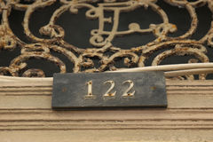 House number Royalty Free Stock Image