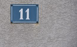 House number. On the wall Royalty Free Stock Image