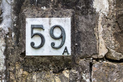 House number 59 A Royalty Free Stock Image