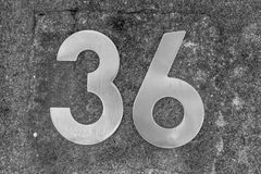 House number on the wall vector illustration