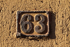 House number on a wall Royalty Free Stock Photography